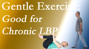 Dr. Le's Chiropractic & Wellness, L.L.C. shares new research-documented gentle exercise for chronic low back pain relief: yoga and walking and motor control exercise. The best? The one patients will do.