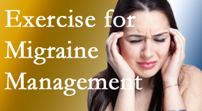 Dr. Le's Chiropractic & Wellness, L.L.C. incorporates exercise into the chiropractic treatment plan for migraine relief.