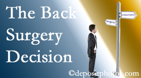 Auburn back surgery for a disc herniation is an option to be carefully studied before a decision is made to proceed.