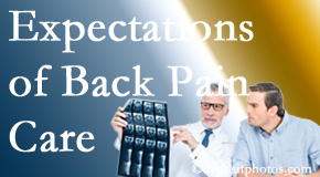 The pain relief expectations of Auburn back pain patients influence their satisfaction with chiropractic care. What's realistic?