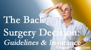 Dr. Le's Chiropractic & Wellness, L.L.C. notes that back pain sufferers may choose their back pain treatment option based on insurance coverage. If insurance pays for back surgery, will you choose that?