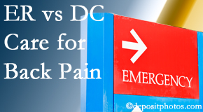 Dr. Le's Chiropractic & Wellness, L.L.C. invites Auburn back pain patients to the clinic instead of the emergency room for pain meds whenever possible.