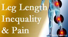 Dr. Le's Chiropractic & Wellness, L.L.C. checks for leg length inequality as it is related to back, hip and knee pain issues.