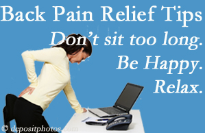 Dr. Le's Chiropractic & Wellness, L.L.C. reminds you to not sit too long to keep back pain at bay!