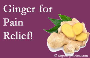 Auburn chronic pain and osteoarthritis pain patients will want to check out ginger for its many varied benefits not least of which is pain reduction.