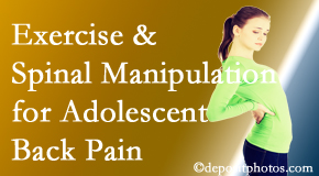 Dr. Le's Chiropractic & Wellness, L.L.C. uses Auburn chiropractic and exercise to help back pain in adolescents.