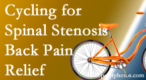 Dr. Le's Chiropractic & Wellness, L.L.C. encourages exercise like cycling for back pain relief from lumbar spine stenosis.