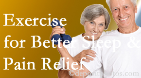 Dr. Le's Chiropractic & Wellness, L.L.C. incorporates the suggestion to exercise into its treatment plans for chronic back pain sufferers as it improves sleep and pain relief.