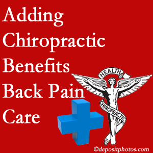 Added Auburn chiropractic to back pain care plans helps back pain sufferers.