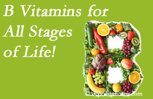 Dr. Le's Chiropractic & Wellness, L.L.C. suggests a check of your B vitamin status for overall health throughout life.
