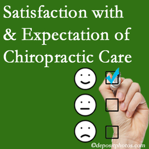 Auburn chiropractic care delivers patient satisfaction and meets patient expectations of pain relief.