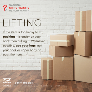 Dr. Le's Chiropractic & Wellness, L.L.C. advises lifting with your legs.
